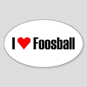 I love foosball Oval Sticker