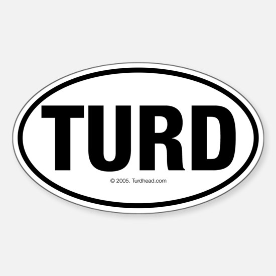 TurdwareT Oval Decal