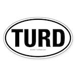 TurdwareT Oval Sticker