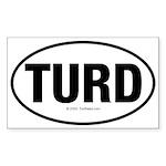 TurdwareT Rectangle Sticker