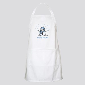 Let it snow snowman BBQ Apron