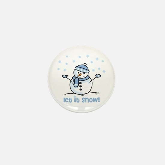 Let it snow snowman Mini Button