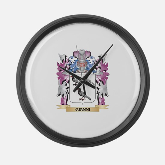 Gianni Coat of Arms (Family Crest Large Wall Clock