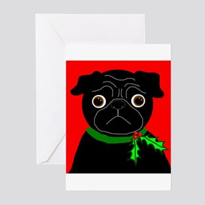 Holly (Black) Greeting Cards (Pk of 20)
