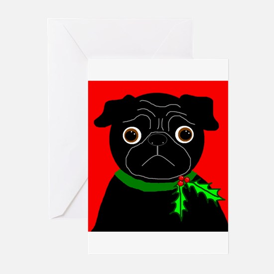 Holly (Black) Greeting Cards (Pk of 10)