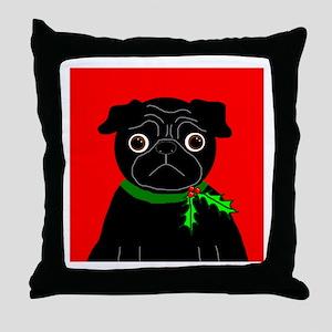 Holly (Black) Throw Pillow