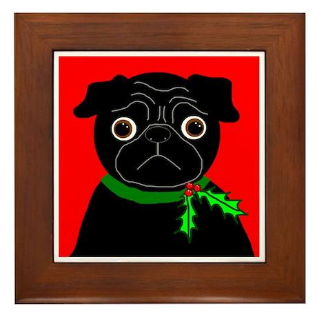 Holly (Black) Framed Tile