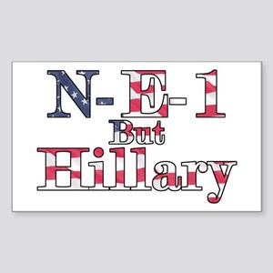 NE1 but Hillary Rectangle Sticker