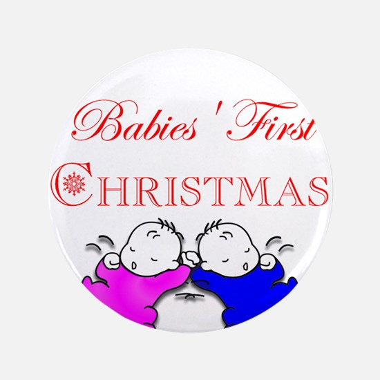 "A Twin's Christmas! 3.5"" Button"