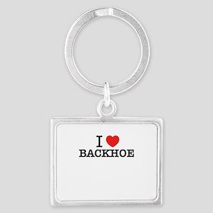 I Love BACKHOE Keychains