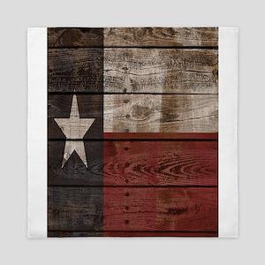 Texas Flag Wood Crate Queen Duvet