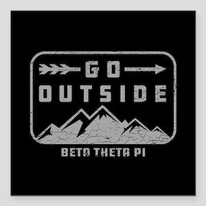 """Beta Theta Pi Outside Square Car Magnet 3"""" x 3"""""""