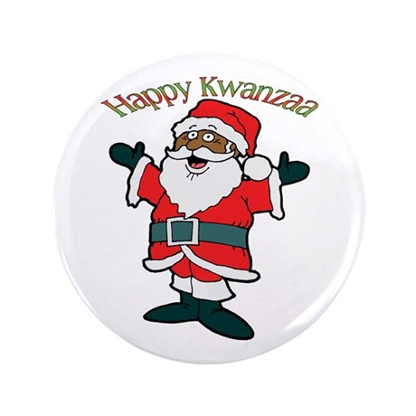 "It's Kwanzaa Time! 3.5"" Button"