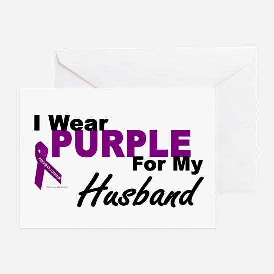I Wear Purple For My Husband 3 (PC) Greeting Card