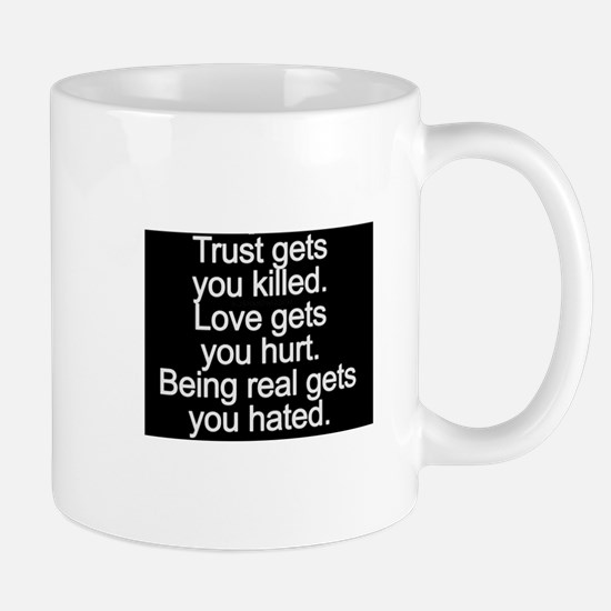 don't trust anyone Mugs