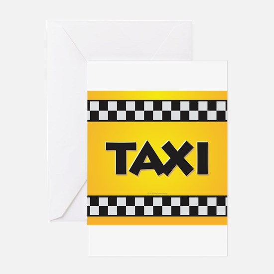 Taxi Greeting Cards