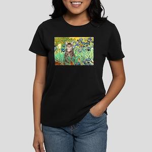 Irises / Tiger Cat Women's Dark T-Shirt