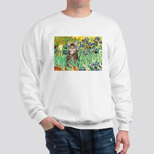 Irises / Tiger Cat Sweatshirt