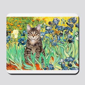 Irises / Tiger Cat Mousepad