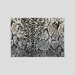 silver grey snake skin 5'x7'Area Rug