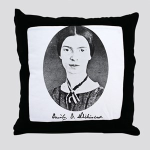 Emily Dickenson Throw Pillow