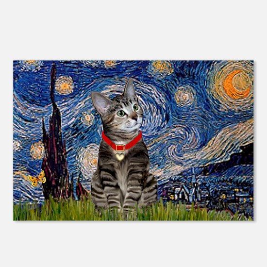 Starry Night / Tiger Cat Postcards (Package of 8)