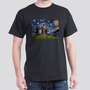 Starry Night / Tiger Cat Dark T-Shirt