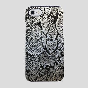 silver grey snake skin iPhone 8/7 Tough Case