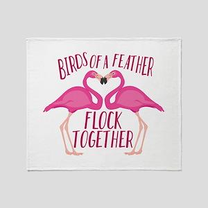 Birds Of Feather Throw Blanket