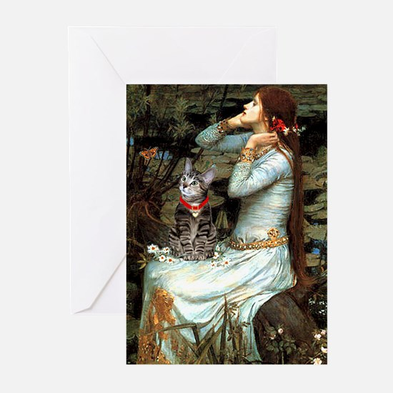 Ophelia / Tiger Cat Greeting Cards (Pk of 10)