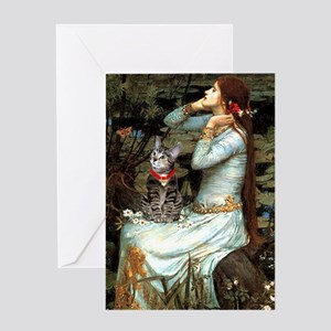 Ophelia / Tiger Cat Greeting Card