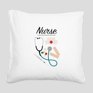 Nurse Square Canvas Pillow