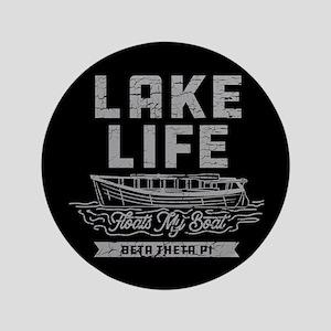"""Beta Theta Pi Lake 3.5"""" Button"""