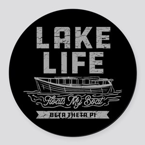 Beta Theta Pi Lake Round Car Magnet