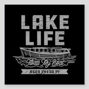 """Beta Theta Pi Lake Square Car Magnet 3"""" x 3"""""""