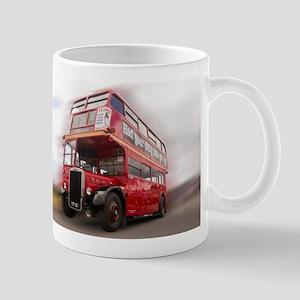 Old Red London Bus. Mugs