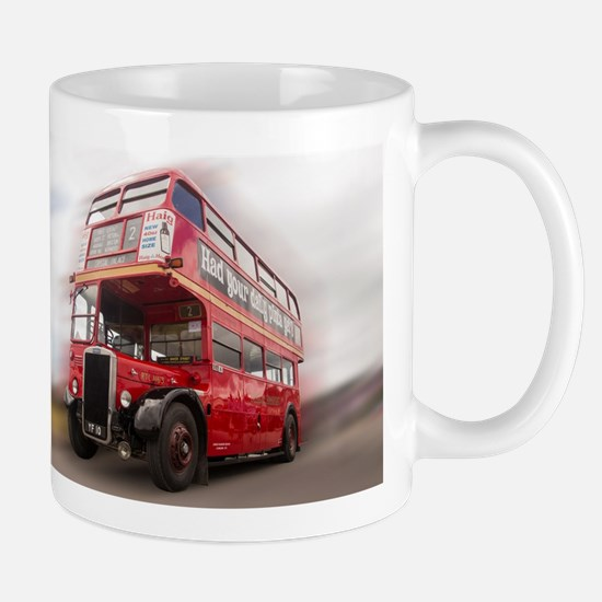 Old Red London Bus. Mugs