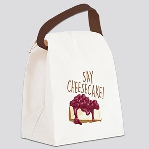 Say Cheesecake Canvas Lunch Bag