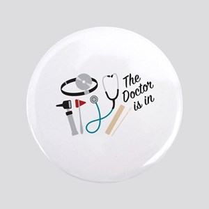 Doctor Is In Button
