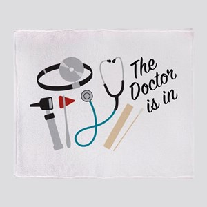 Doctor Is In Throw Blanket