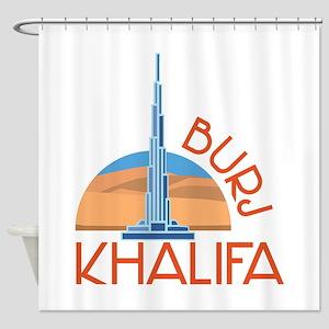 Burj Khalifa Shower Curtain