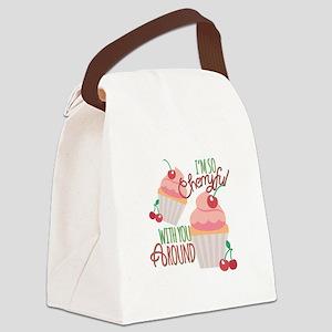 So Cherryful Canvas Lunch Bag