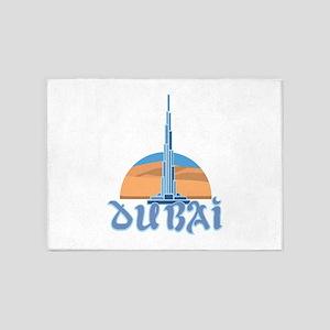 Burj Khalifa Dubai 5'x7'Area Rug