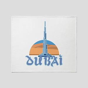 Burj Khalifa Dubai Throw Blanket