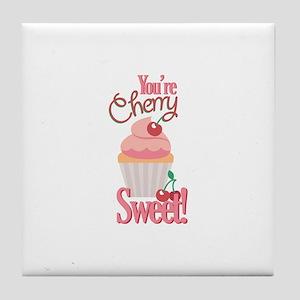 Cherry Sweet Tile Coaster