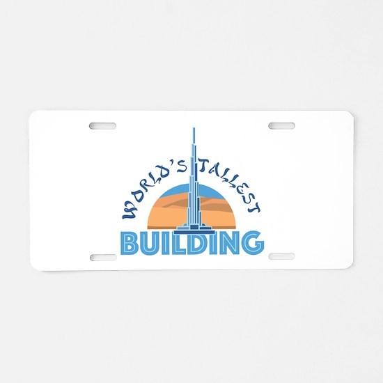 Worlds Tallest Building Aluminum License Plate
