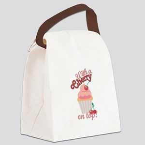 Cherry On Top Canvas Lunch Bag
