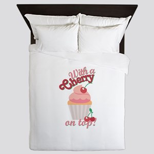 Cherry On Top Queen Duvet