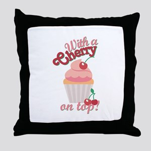 Cherry On Top Throw Pillow
