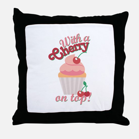 Cherry On Top Throw Pillow